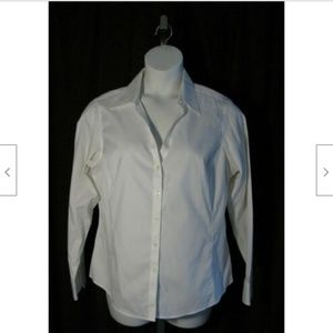 Brooks Brothers White Non-Iron Shirt Blouse